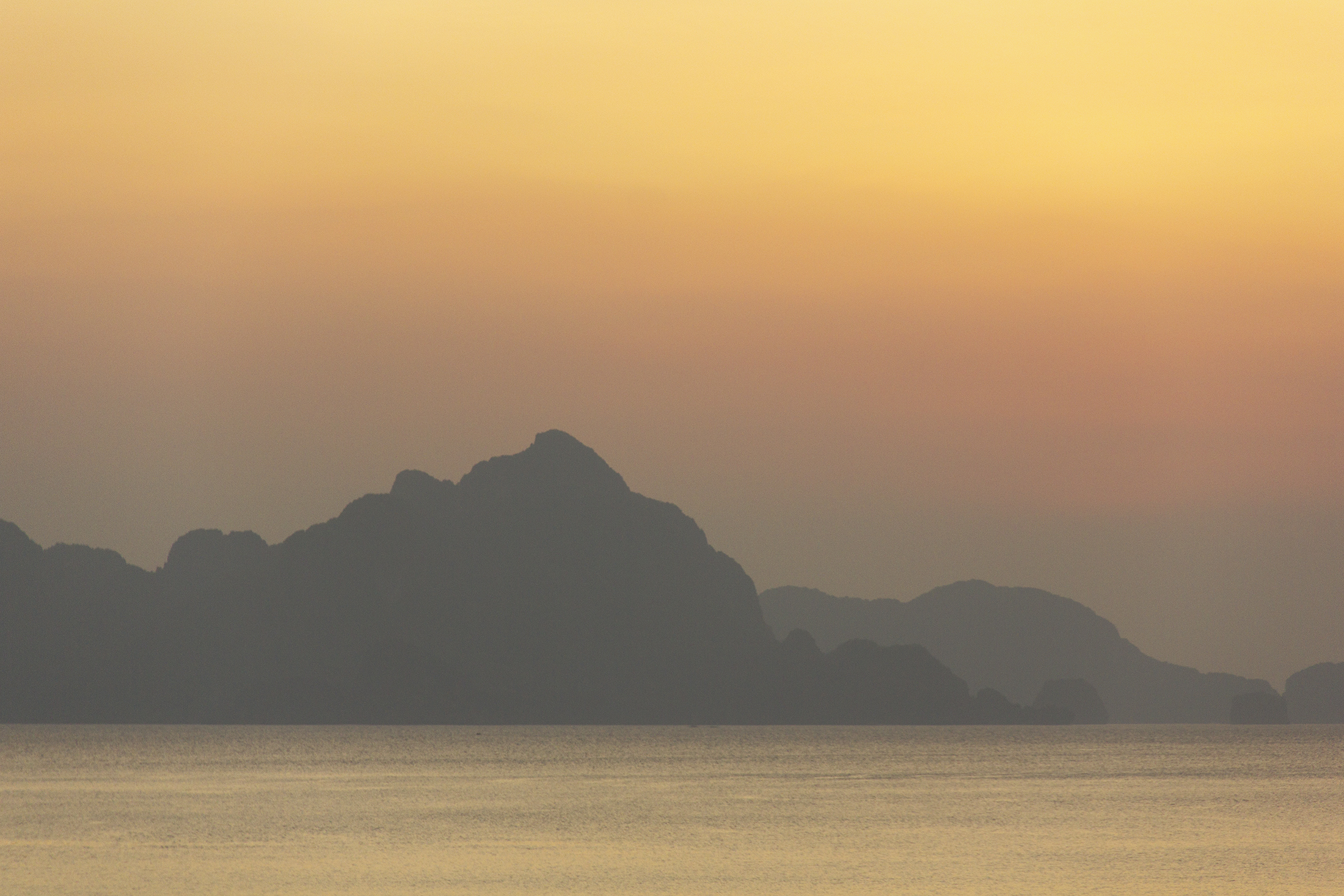View from Republica Sunset Bar, El Nido