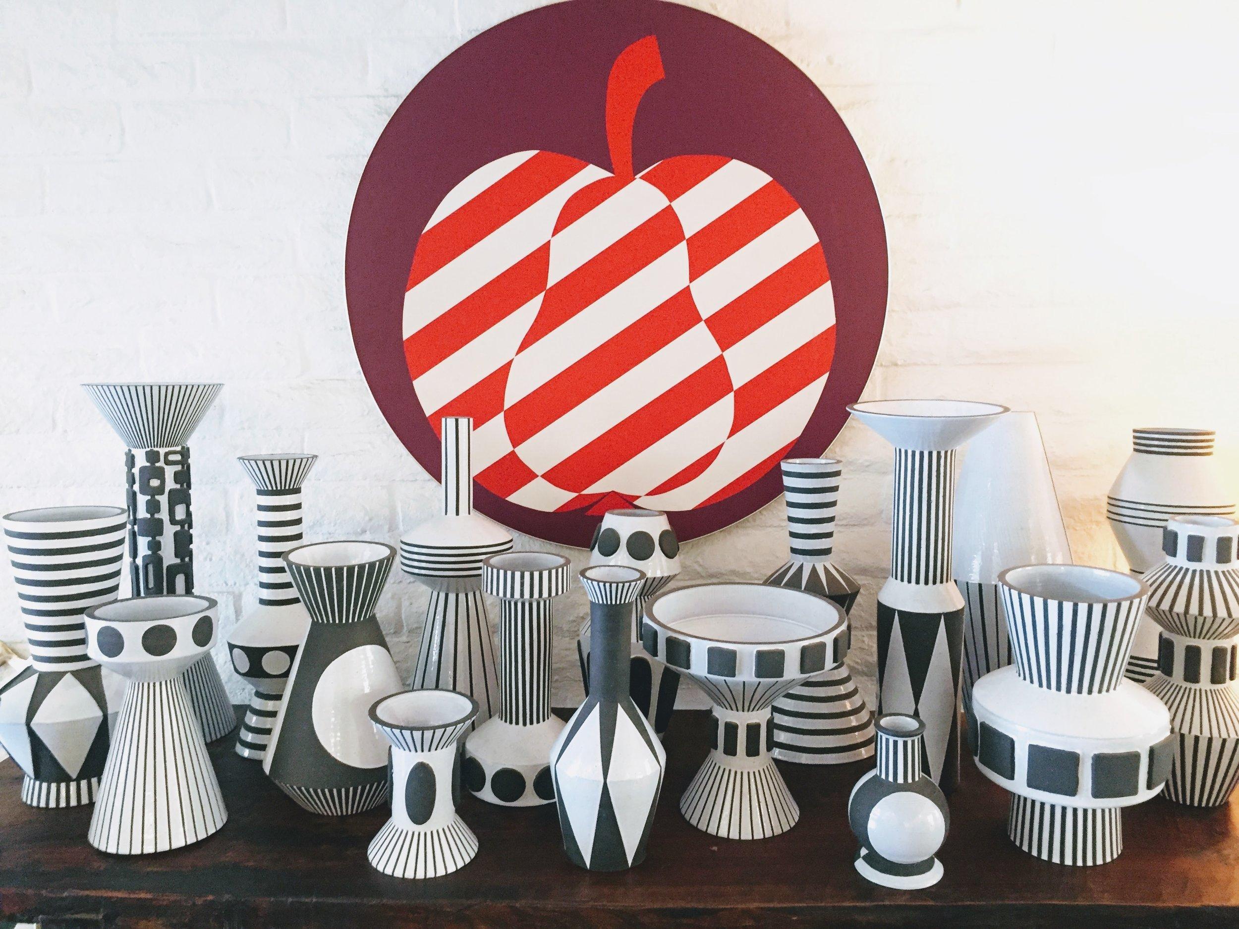 Jonathan Adler ceramics on display at The Parker