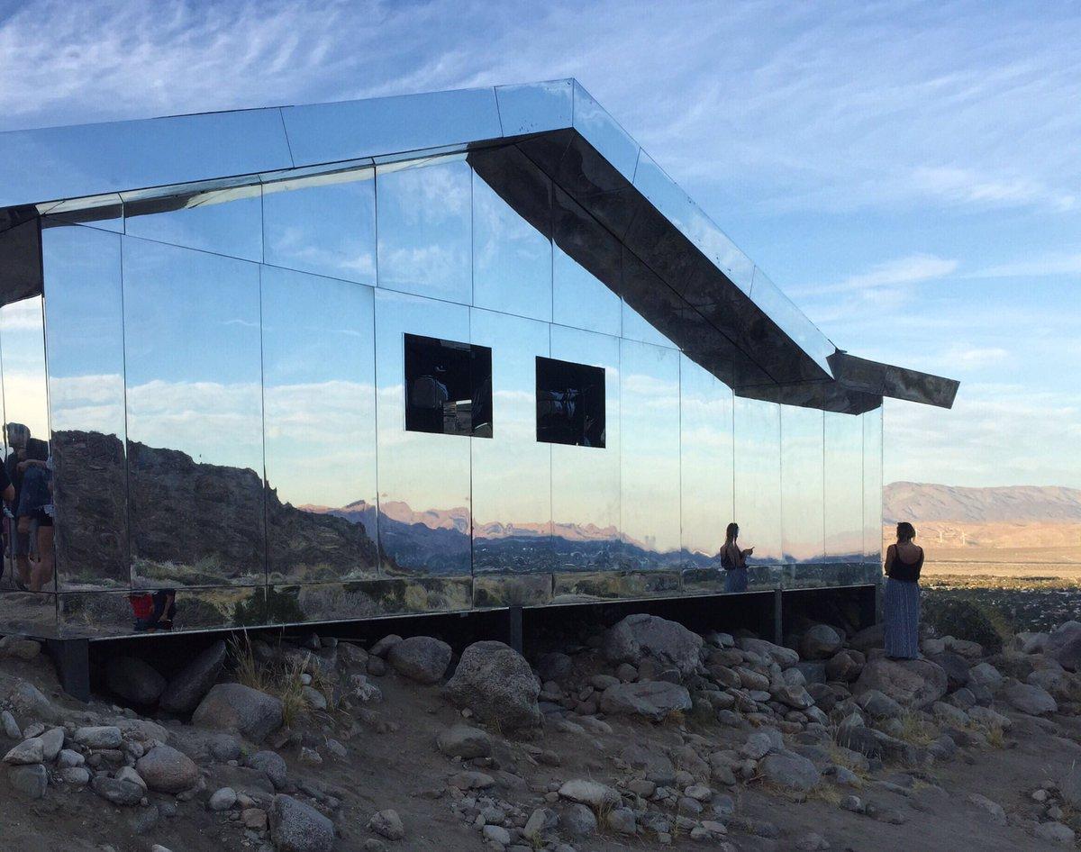 Desert X installation view of Doug Aitken's Mirage, 2017
