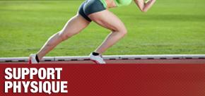 Gym multidisciplinaire pour l'entraînement des sportifs de la rive-sud. Un coureur est démontré dans une phase d'entraînement privé de départ visant à augmenter son explosivité et sa cadence pour être ultimement plus rapide et agile.