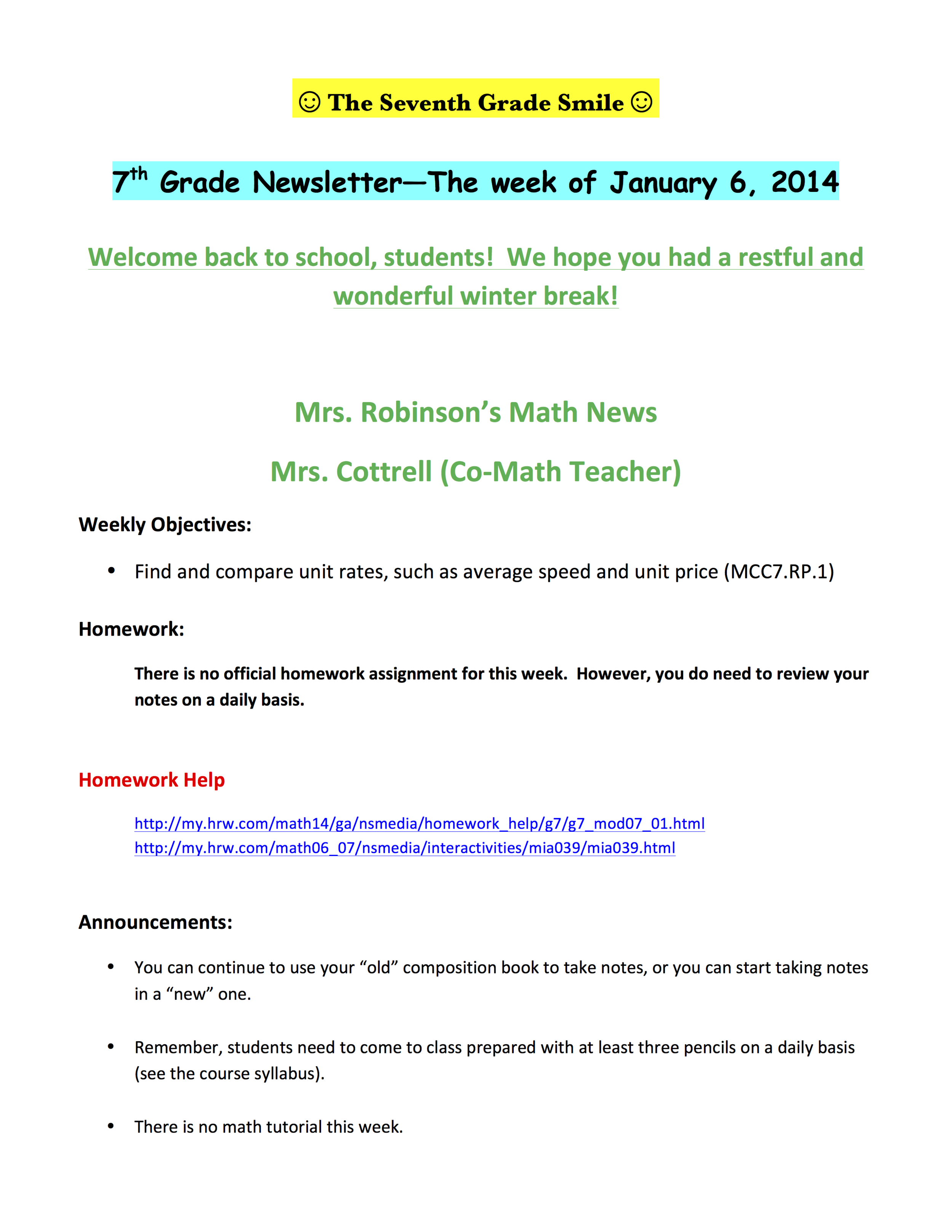 7th grade newsletter 1-9A.png