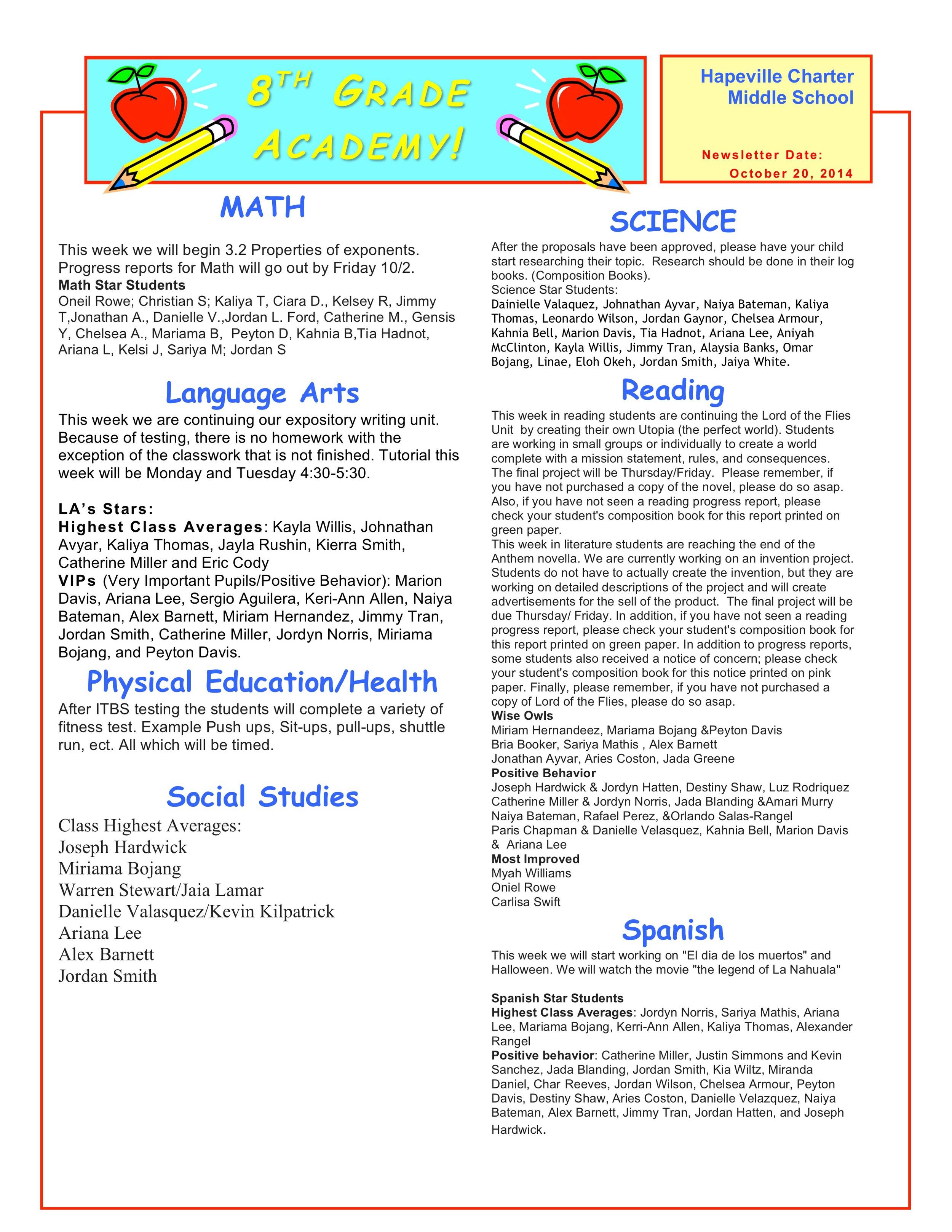 Newsletter Image8th grade october 20.jpeg