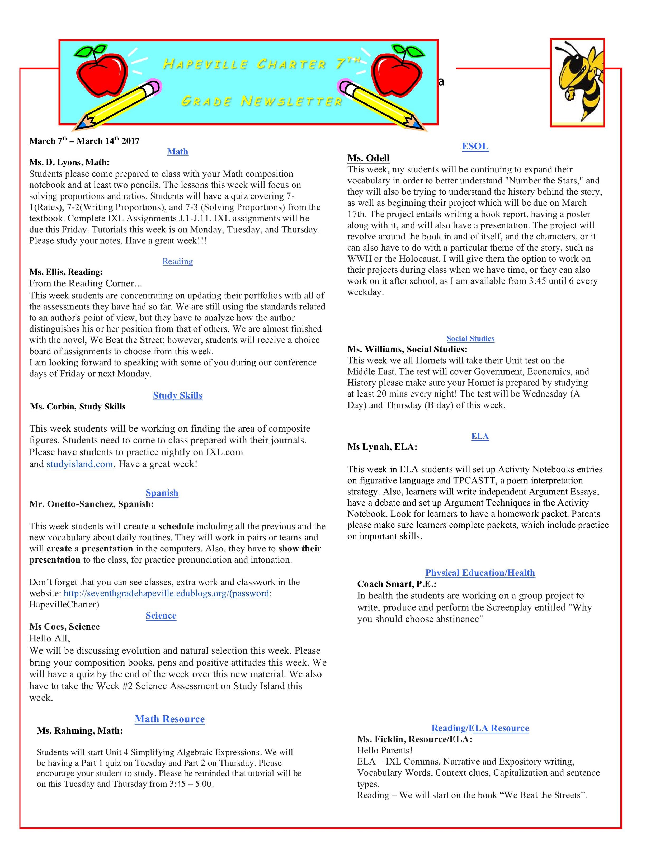 Newsletter Image7th Grade Newsletter 3-7-2017 .jpeg