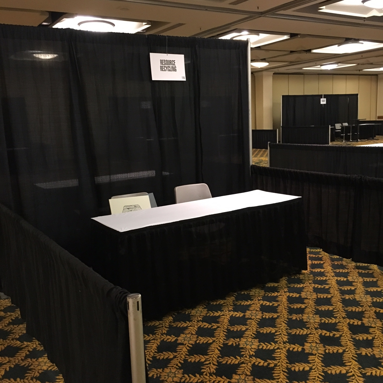 Sample of what is provided with a Single Booth