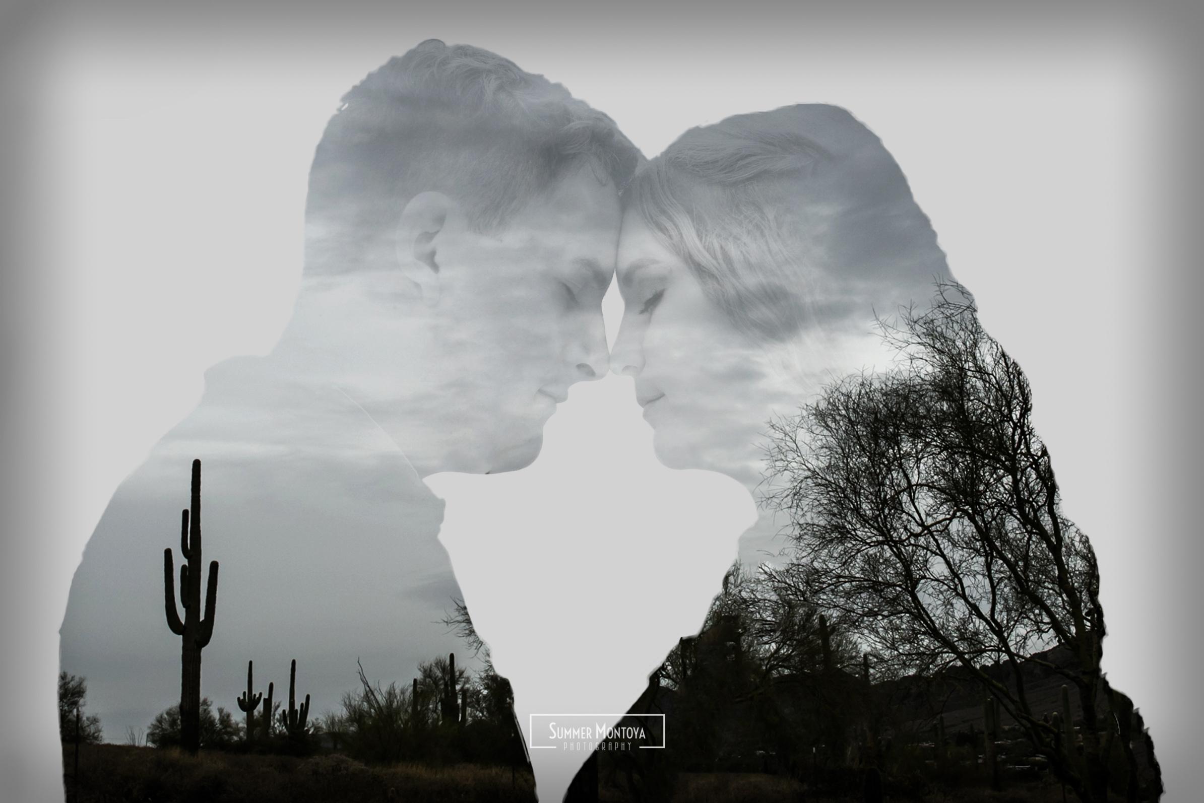 double-exposure-desert-engagment