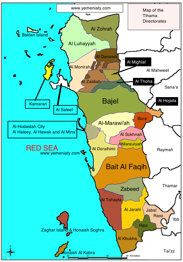 Directorates of the Tihama Region