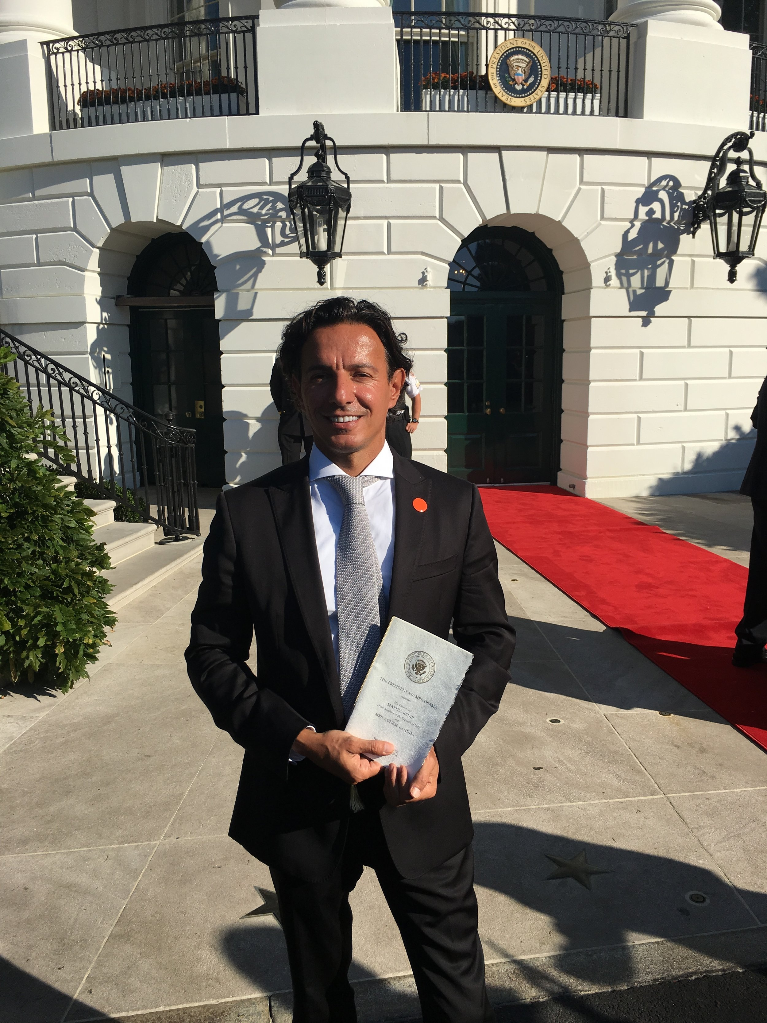 At the White House for the State visit of the Italian Prime Minister H.E. Matteo Renzi to President Barack Obama.