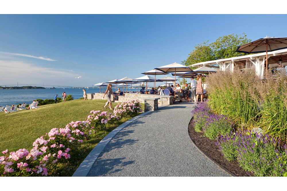 The Lawn at Castle Hill Inn, Newport RI - Birchwood Design Group