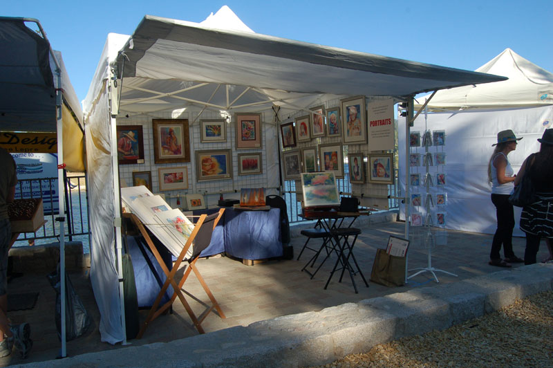 artist booth at lake arrowhead rotary art and wine festival