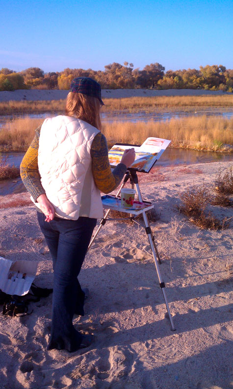Yevgenia Watts painting en plein air