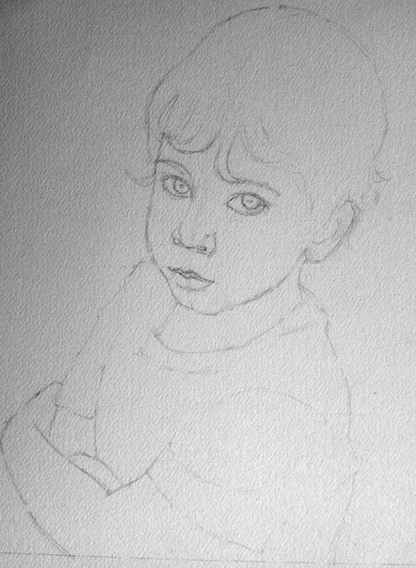 drawing for a child portrait