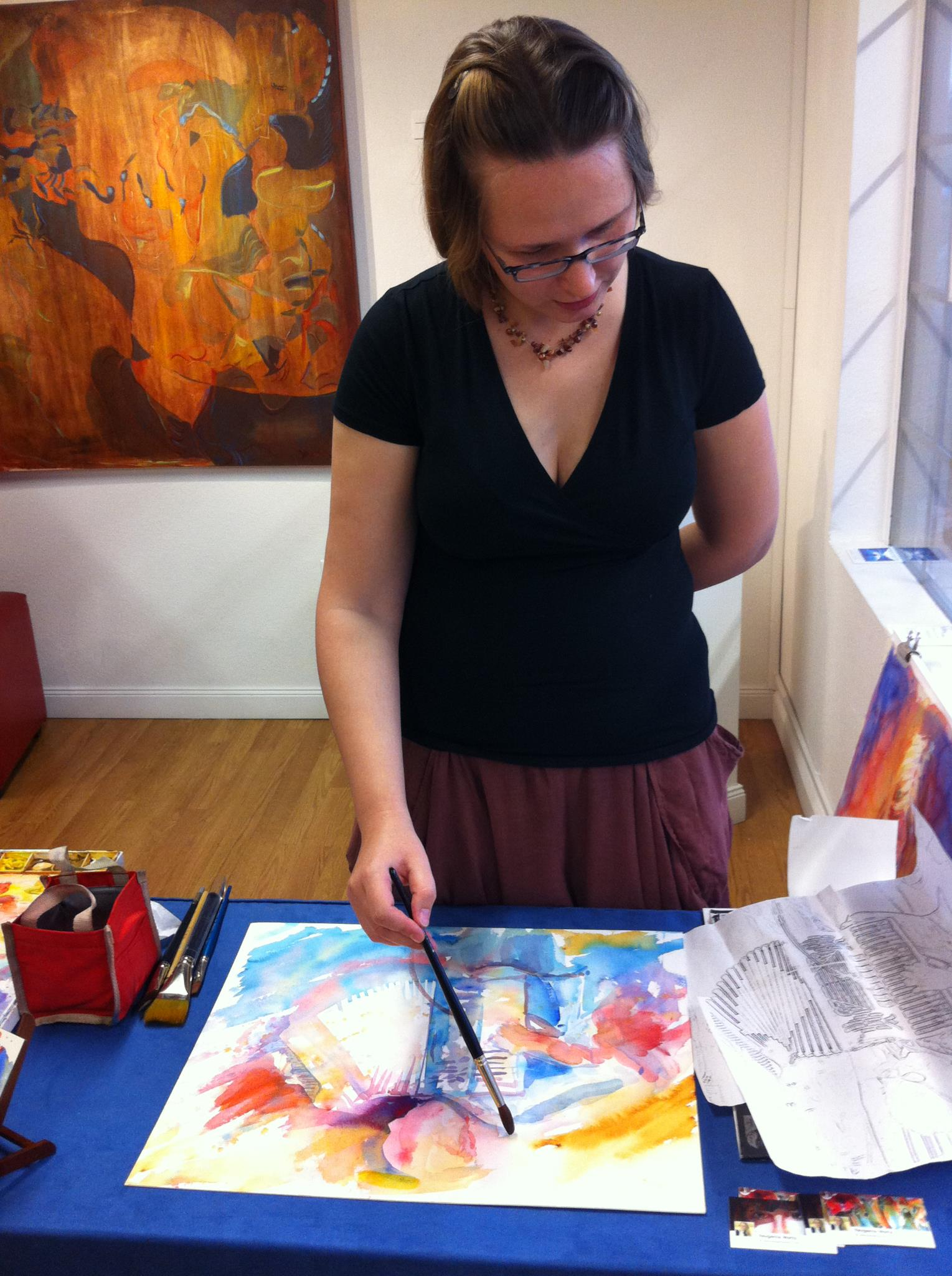 genia painting at eclipse.jpg