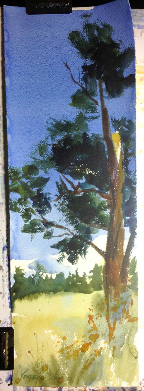 """22x7.5"""" watercolor on Fabriano Artistico rough watercolor paper."""