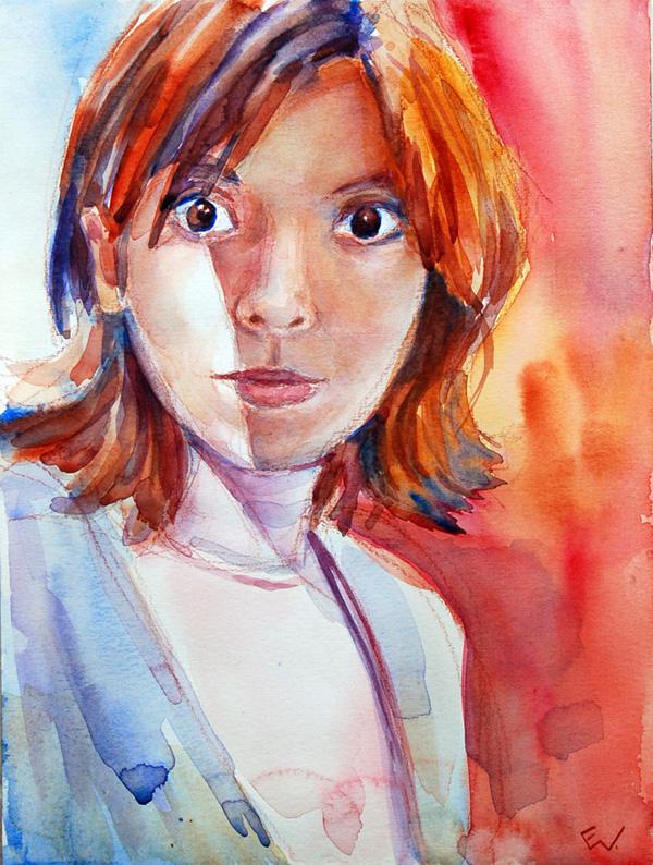 Lara - watercolor on paper.