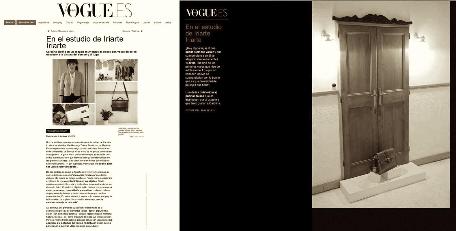 Vogue Spain       Studio Visit
