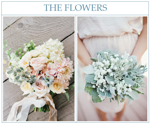 Pastel bouquet  from  Honey of a Thousand Flowers  and  lamb's ear bouquet  photographed by  Landon Jacob