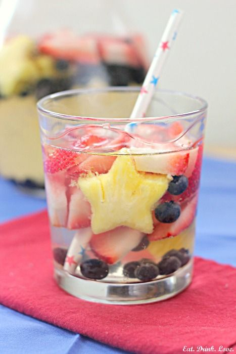 Red, White & Blue Sangria from Eat Drink Love