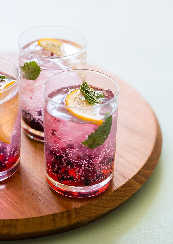 Blackberry Meyer Lemon Gin & Tonics from Spoon Fork Bacon