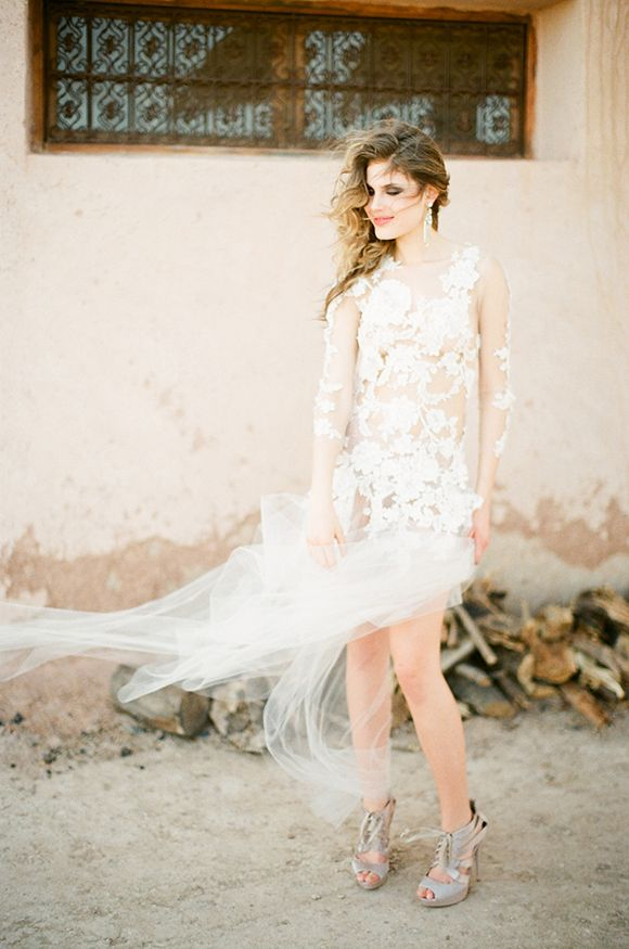 Emily Riggs wedding gown  via  Wedding Sparrow