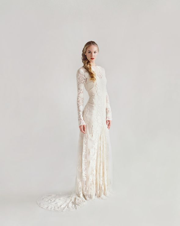 Rue De Seine Chloe wedding gown via Once Wed