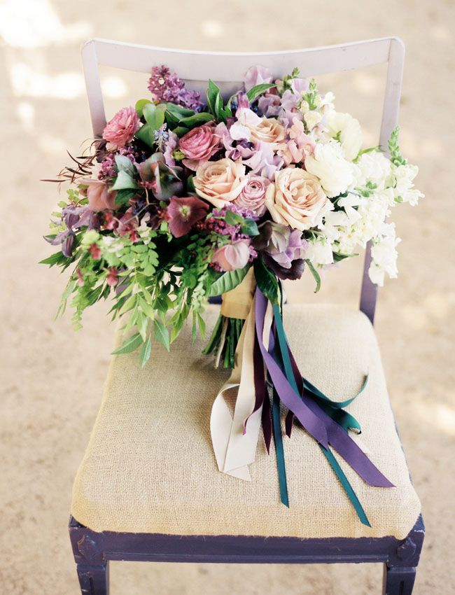 Sweet Marie Designs bouquet  photographed by  Ryan Johnson Photography  via  Green Wedding Shoes