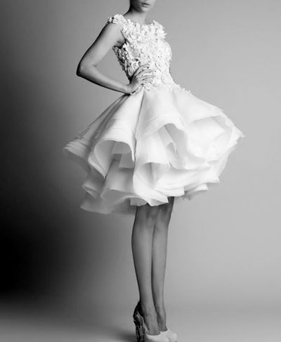 Krikor Jabotian  short wedding gown