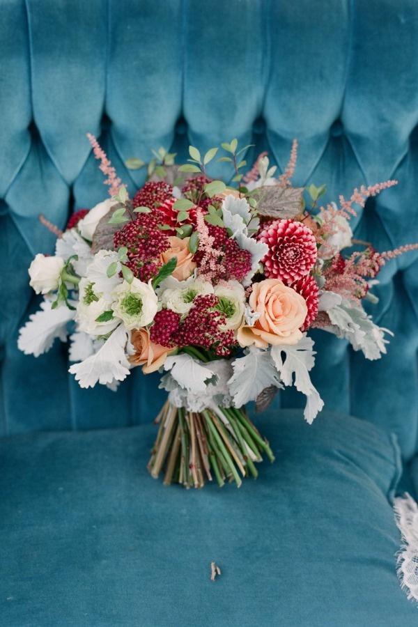 Kristajon Floral Design  bouquet by  Elizabeth Messina  via  Style Me Pretty