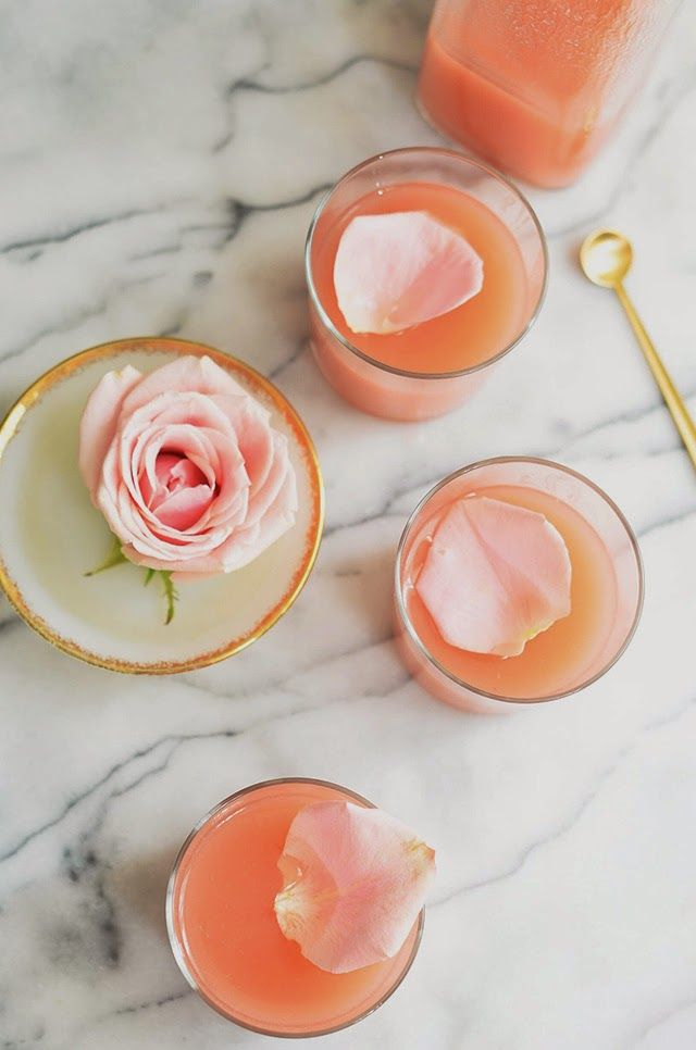 White Peach Rose Lemonade via Heart of Gold