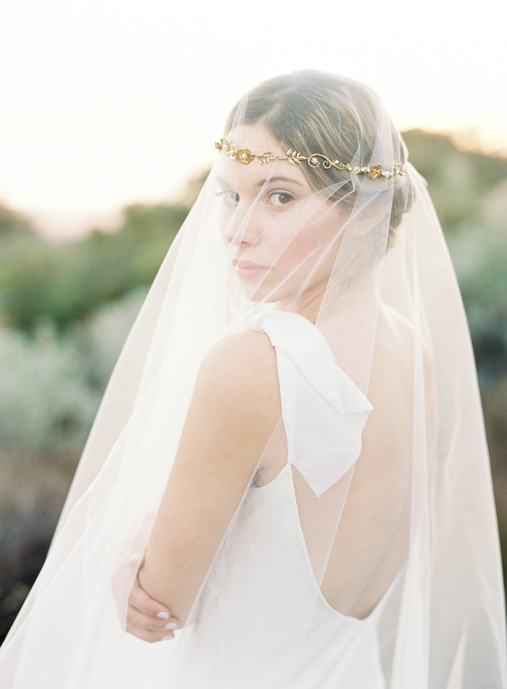 Hushed Commotion Callan veil & headpiece  by  Jen Huang