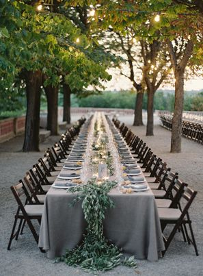 Grey tablescape from  Joy Thigpin  by  Bryce Covey  via  Once Wed