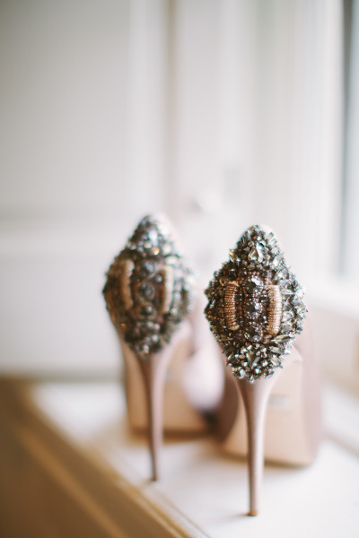 Badgley Mischka  pumps from  Cmostr Photography  via  Style Me Pretty