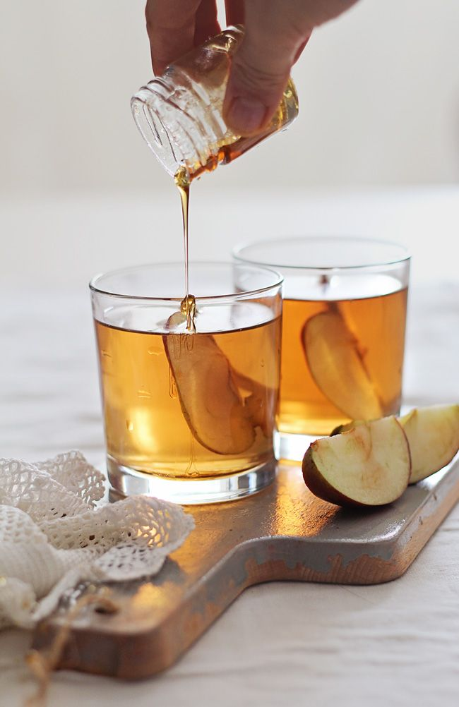 Honey Bourbon Apple Cider Cocktail from Hello Natural