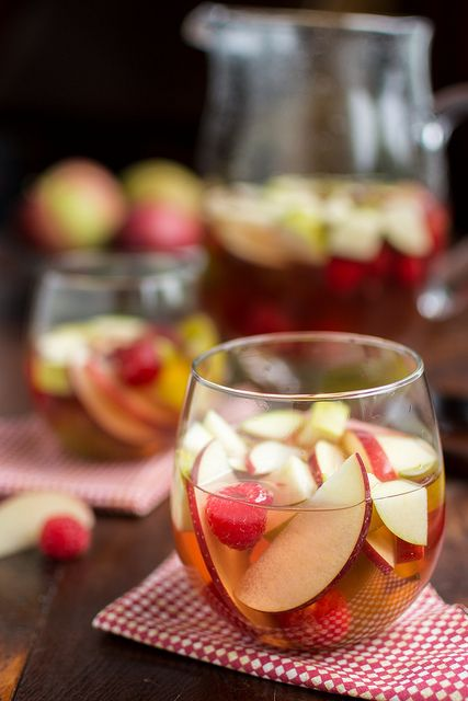 Autumn Sangria with hard cider from Cheese & Chocolate
