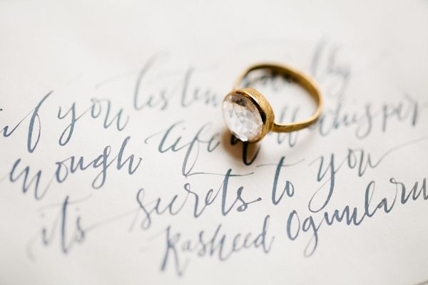 La Happy  calligraphy by  Brumley & Wells  via  Once Wed