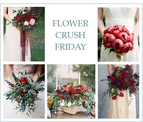Flower Crush Friday: Cranberry Red Florals