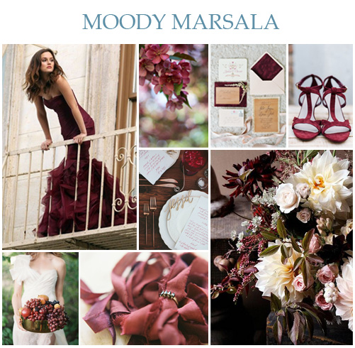 Moody Marsala Wedding Inspiration