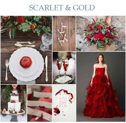 Wedding Wednesday: Scarlet & Gold Wedding Inspiration