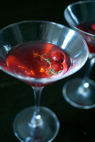 Cranberry Thyme Mocktail