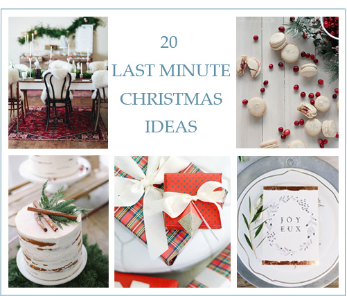 20 Last Minute Christmas Ideas - Lindsey Brunk