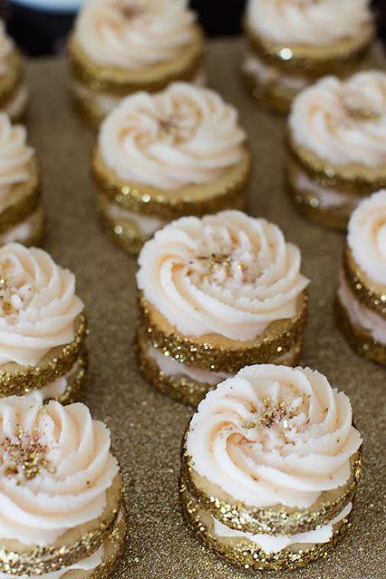 Gold glitter snacks