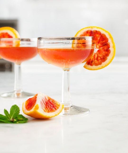 Blood Orange & Bourbon Cocktail