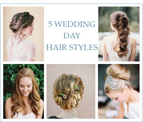 5 Wedding Day Hair Styles - Lindsey Brunk