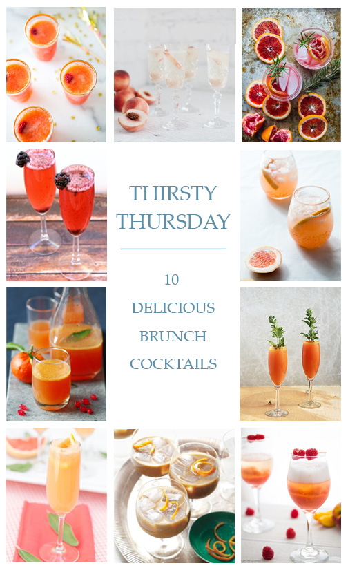 Thirsty Thursday: 10 Delicious Brunch Cocktails