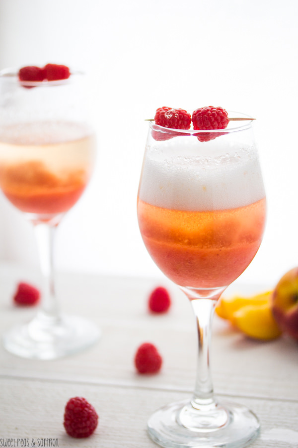 Peach & Raspberry Bellini