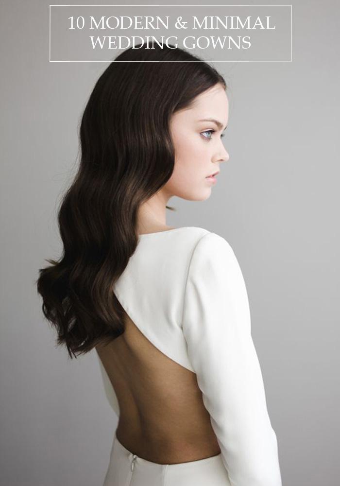 10 Modern & Minimal Wedding Gowns - Lindsey Brunk