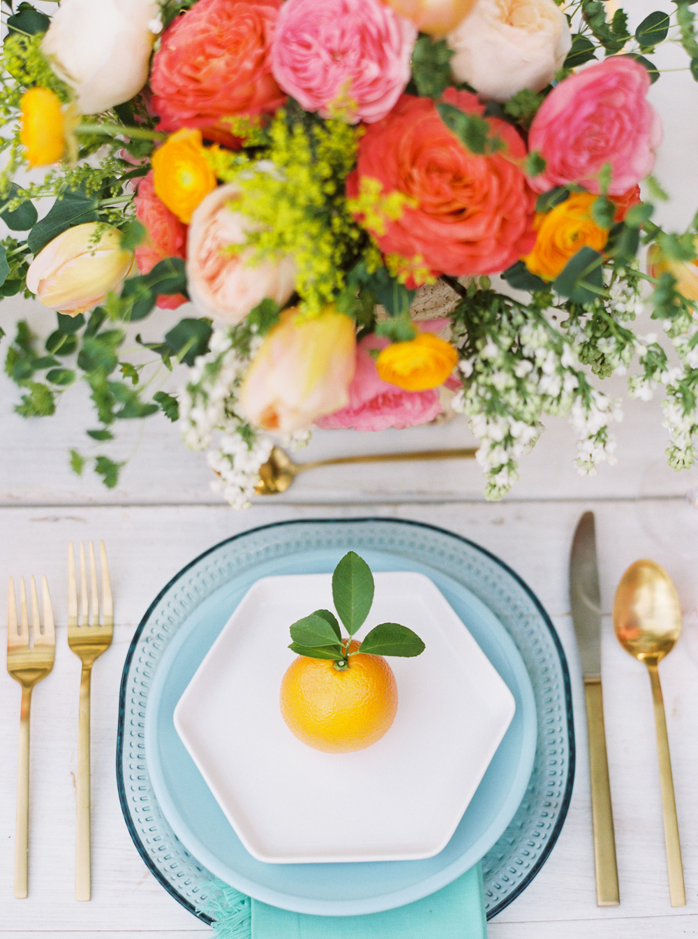 Colorful Bridal Lunch