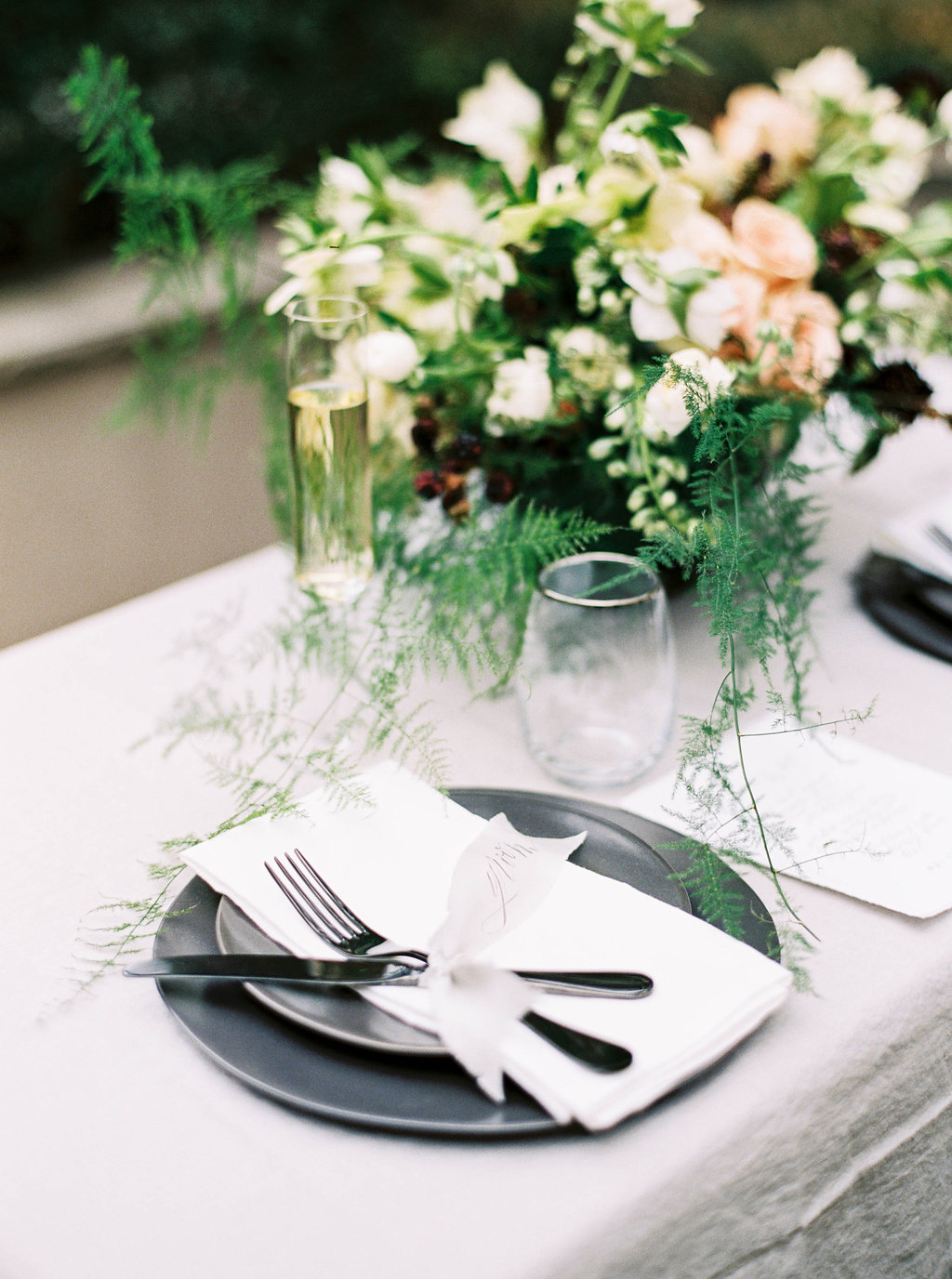 Organic Black & White Wedding Inspiration - Lindsey Brunk