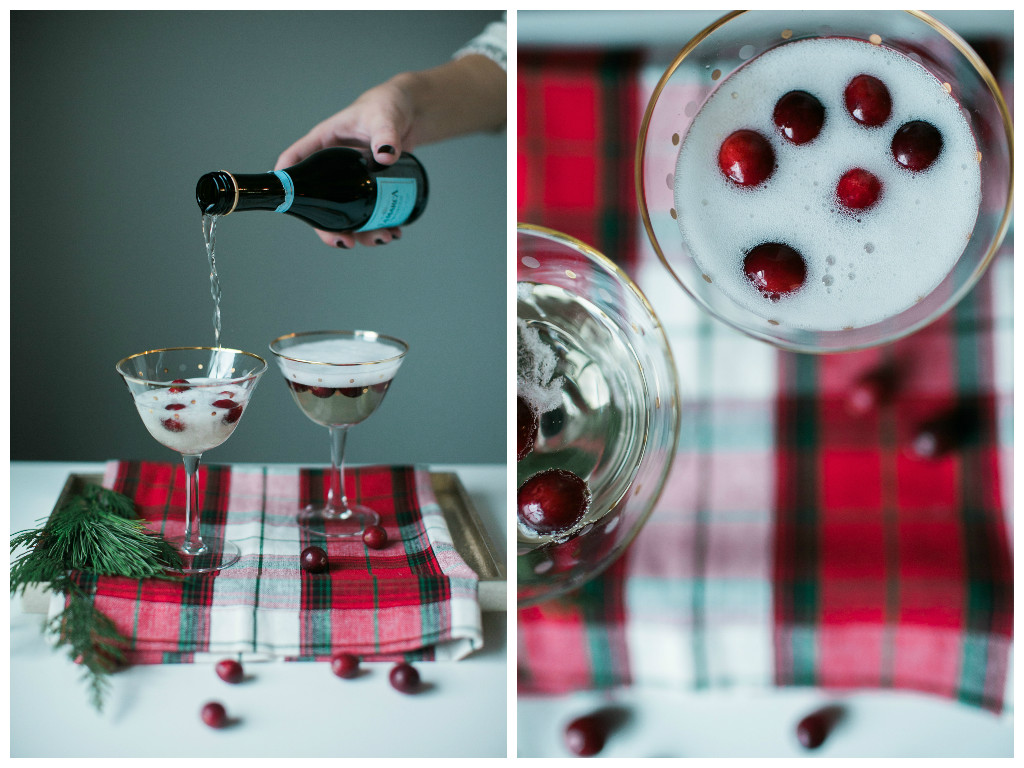 Christmas Cocktail: White Cranberry Mimosas - Lindsey Brunk