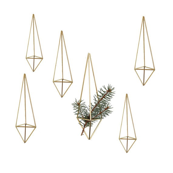 Set of 6 Modern Geometric Ornaments
