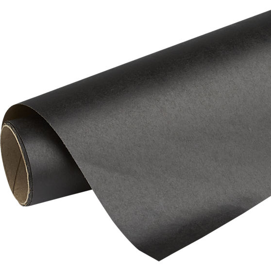 Black Kraft Wrapping Paper